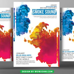 Free Smoke Flyer Template Psd Download