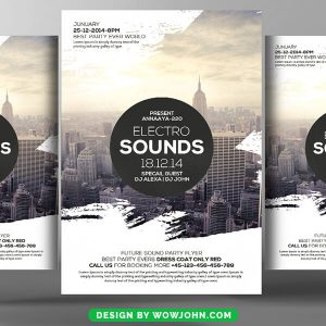Electro Flyer Psd Free Download