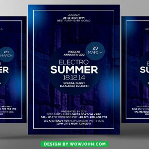 Free Concert Flyer Template PSD Download