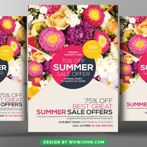 Free Summer Sale Flyer Psd Download