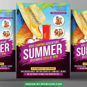 Summer Event Flyer Template Free