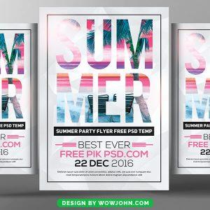 Summer Flyer Template Word