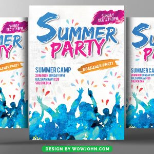Free Summer Party Flyer Template Word