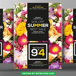 Free Summer Sale Flyer Template