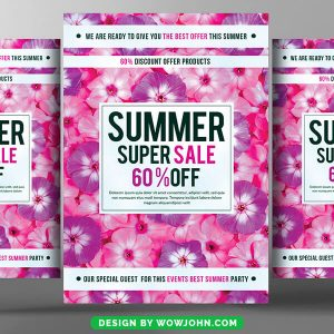 Summer Sales Flyer Templates Free Download