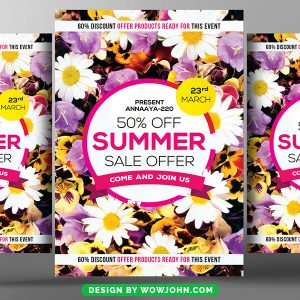 Summer Product Sales Flyer Template Free