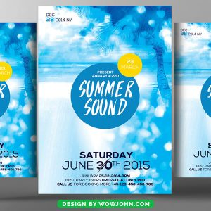 Summer Party Flyer Template Free Download