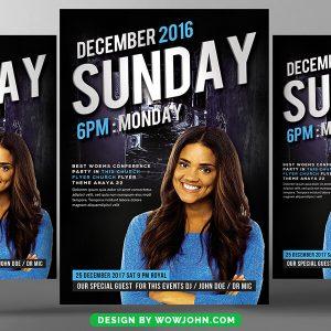 Free Sunday Church Service Flyer template