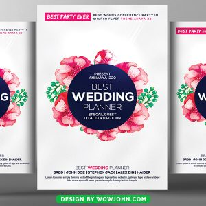Free Wedding Planner Flyer Templates