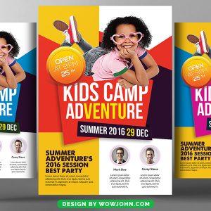 Free Kids Summer Camp Flyer Template