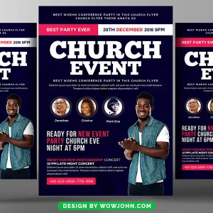 Free Invitation To Church Service Flyer