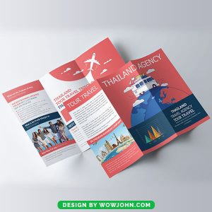 Free Tour Travel Trifold Brochure Psd Template