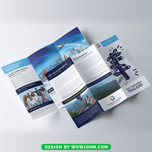 Free Thailand Tour Travel Trifold Brochure Psd Template