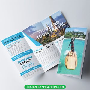 Free Creative Trifold Travel Brochure Psd Template