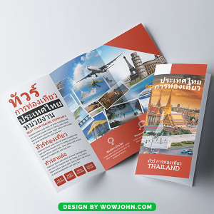 Free Travel Agency Tri Fold Brochure Psd Template