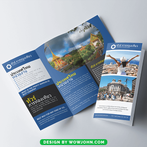 Free Travel Agency Promotion Brochure Psd Template
