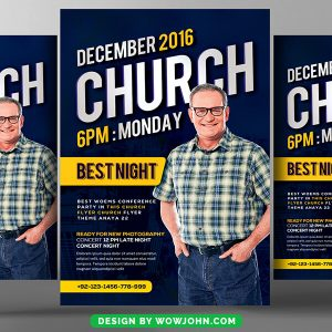 Free Church Youth Group Flyer Template