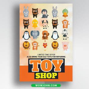 Free Toy Shop Card Psd Template