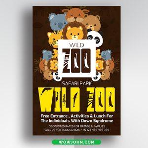 Free Zoo Safari Flyer Psd Template