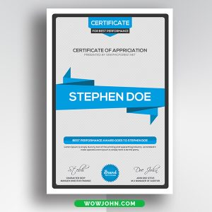 Certificate Psd Template Free Download