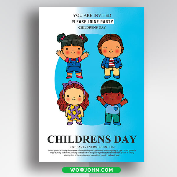 Free Children's Day 2021 Flyer Psd Template