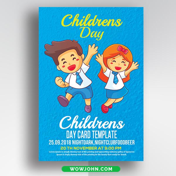 2021 Children Day Flyer Free Psd Template