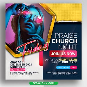 Free Church Flyer Psd Template