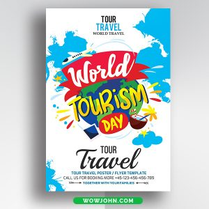Free World Travel Agency Flyer Psd Template