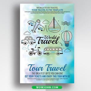 Free Travel Flyer Template Psd