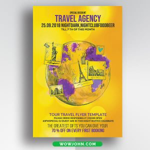 Tourism Flyer Psd Templates Free Download