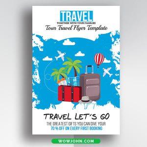 Free Tourist Travel Flyer Psd Template