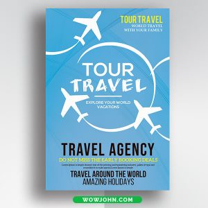 Free Vacation Travel Flyer Psd Template