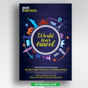 Free Holiday Travel Flyer Psd Design