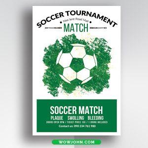 Free Soccer Tournament Flyer Card Psd Template