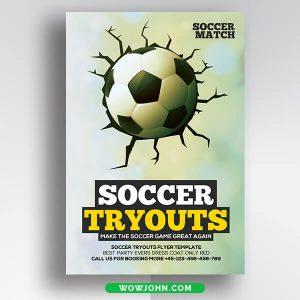 Free Soccer Football Flyer Card Psd Template