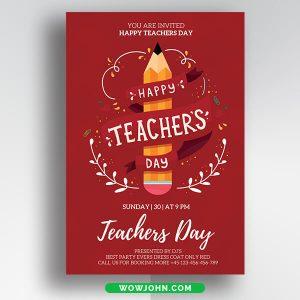 Free Happy Teachers Day Card Psd Template