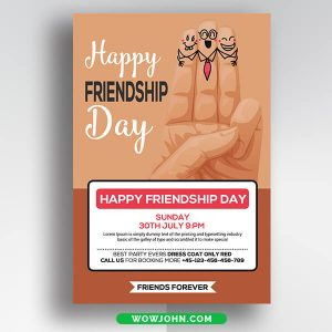 Free Friendship Day Greeting Card Psd Template