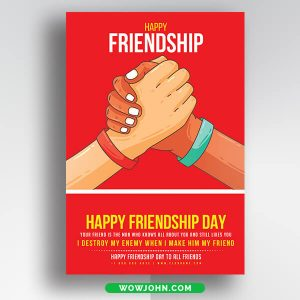 Friendship Cards For Friends Free Psd Templates