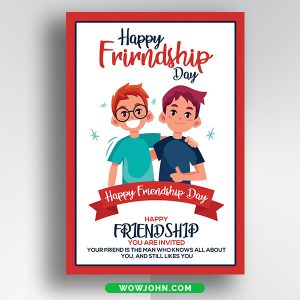 Free Happy Friendship Day Card Psd Template