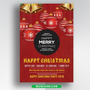 Free Creative Christmas Card Template Psd Download