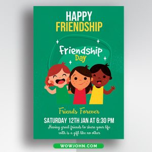 Thank You For The Friendship Card Psd Template