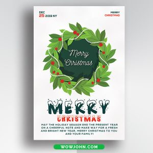 Free Watercolor Christmas Card Psd Template