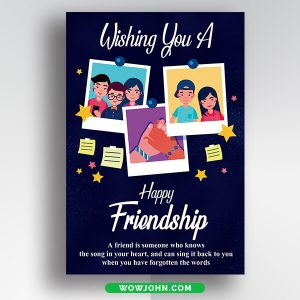 National Friendship Day Psd Card Template