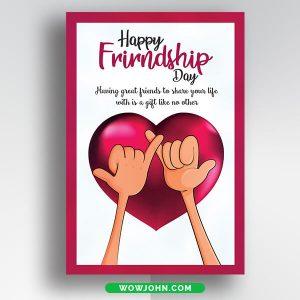 Friendship Day Postcard Free Psd Template