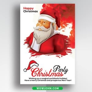 Free Santa Christmas Card 2021 Psd Template