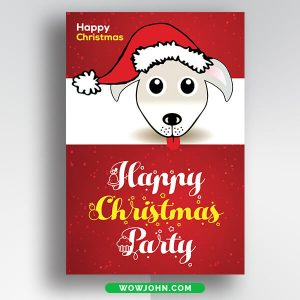 Free Toy Drive Christmas Card Psd Template