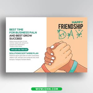 Best Friendship Day Thank You Card Psd Template