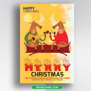 Free Family Christmas Card Psd Template