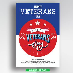 Free Veterans Day Church Flyer Psd Template