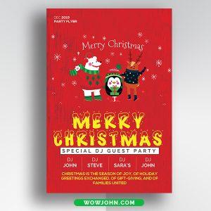 Free Vintage Christmas Greeting Card Psd Template